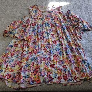 Plus Size Boutique Style Floral Dress